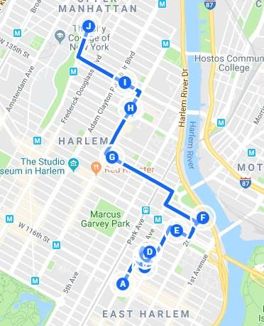 De East Harlem à Central Harlem